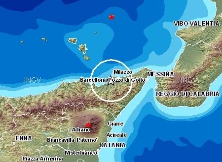 Forti scosse in provincia di Messina, paura ma nessun danno
