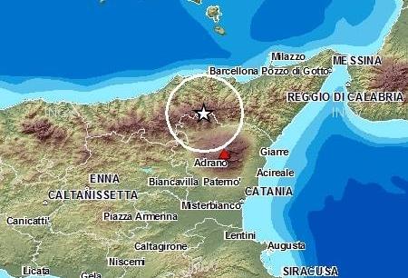Nebrodi. Forte scossa di terremoto alle 21.57