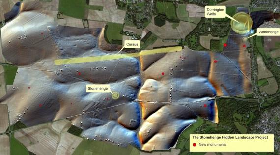 La nuova mappa dell'area di Stonehenge. | LUDWIG BOLTZMANN INSTITUTE