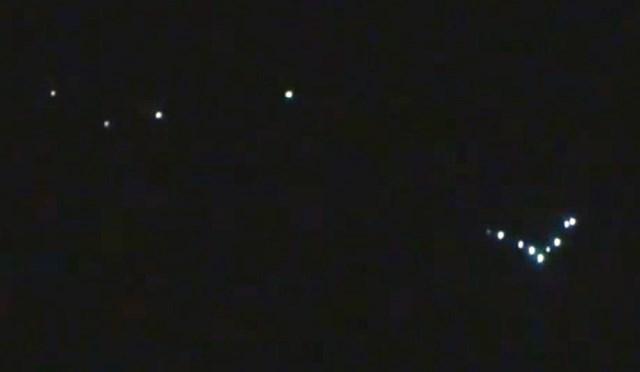 Russia: spettacolare avvistamento UFO Flottillas sopra la città di Kolomna