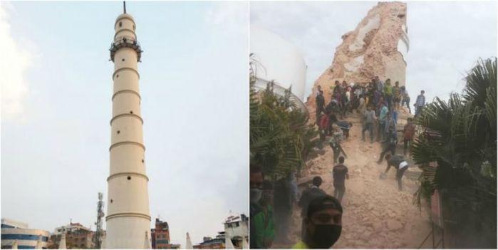 La torre Dharahara, uno dei monumenti più importanti di Kathmandu, patrimonio Unesco