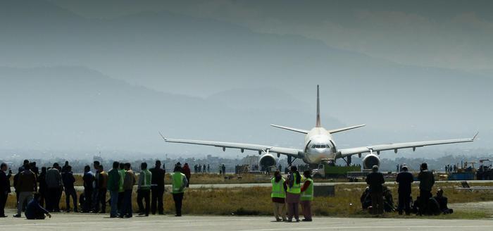 L'aeroporto internazionale Tribhuvan di Kathmandu