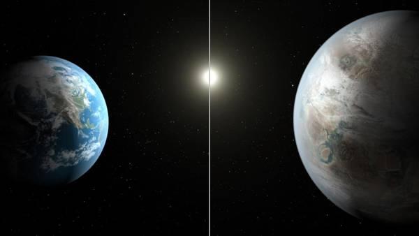 I due pianeti a confronto in una ricostruzione grafica (Fonte NASA)