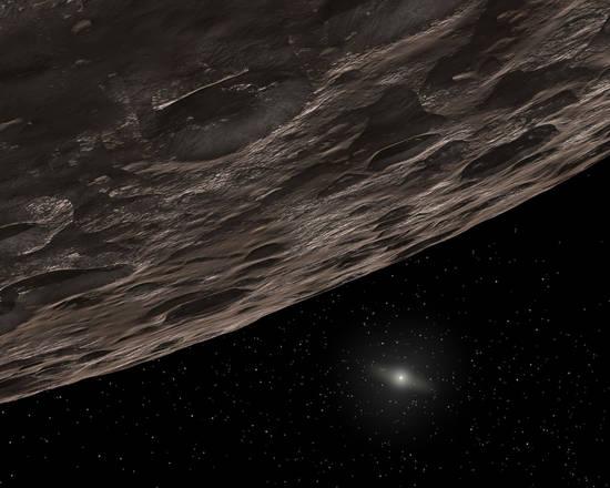 Rappresentazione artistica di un pianeta nano ai confini del Sistema Solare (fonte: NASA/JPL-Caltech/T. Pyle, SSC)