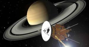 La sonda Cassini ha cominciato la serie di 'tutti' negli aneggli di Saturno (fonte: NASA)