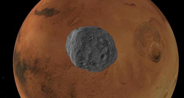 Rappresentazione artistica di Marte e Fobos (fonte: jihemD)