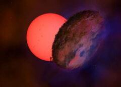 Una stella gigante lampeggia nel cuore della Via Lattea